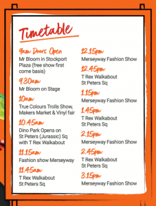 Totally Big Day Out timetable of events