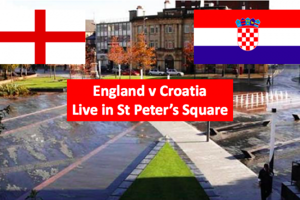 Watch England v Croatia live on a big screen in St Peter's Square