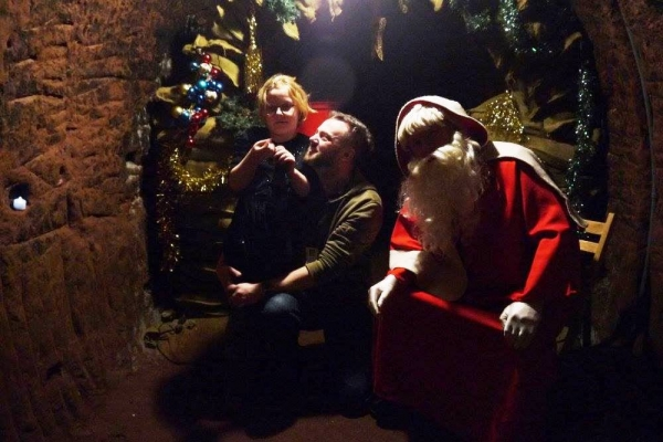 Father christmas at Staircase House