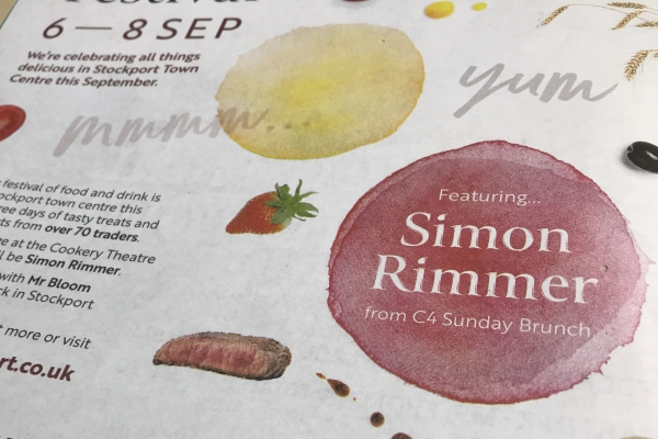 Simon Rimmer Stockport food and drink festival 2019