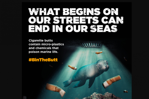 one cigarette butt per litre of water is highly toxic to fish