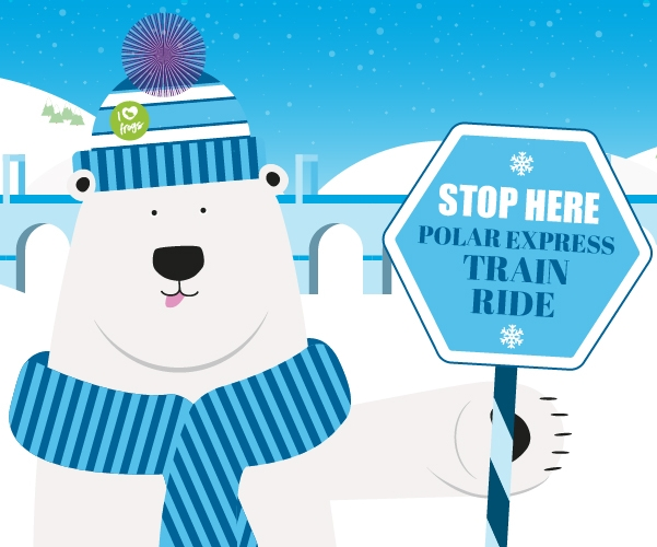 All aboard the Polar Express & discover Stockport's giant ice sculptures